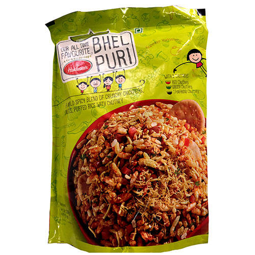 בהל פורי (BHEL PURI) – מסדרת החטיפים ההודיים של מהרג'ה. מיקס של חטיף קמח חומוס המשולב עם פצפוצי אורז תפוח, בוטנים, תבלינים שונים ועוד.