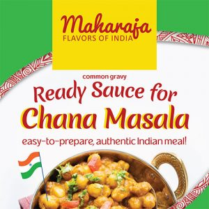 רוטב הודי מסורתי מוכן להכנת צ'אנה מסאלה. להשיג בחנויות מהרג'ה.