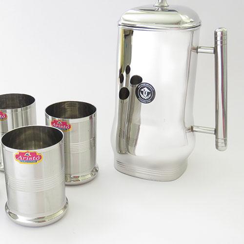 סט כוסות הודיות וקנקן הודי ביבוא ישיר מהודו.